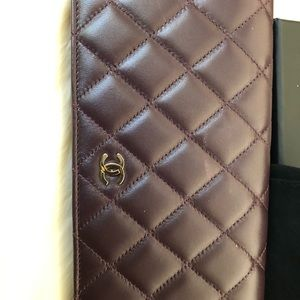 Chanel L-Yen Quilted Wallet